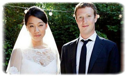 Wedding pictures of facebook founder